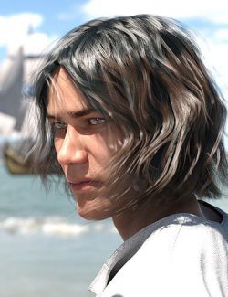 Deck Hand Hair for Genesis 3 and 8 Male(s)