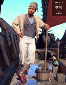 dForce Deck Hand Outfit for Genesis 8 Male(s)