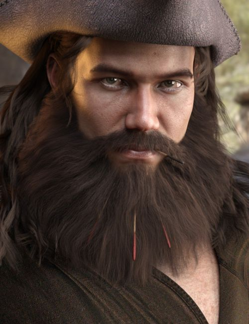 Volta Hair and Beard for Genesis 8