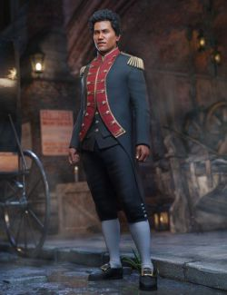 dForce Naval Uniform for Genesis 8 Male(s)