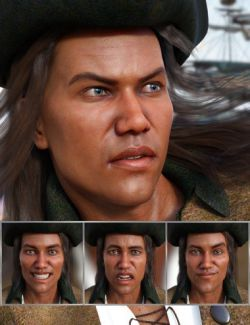 The Pirate- Expressions for Genesis 8 Male and Valentino 8