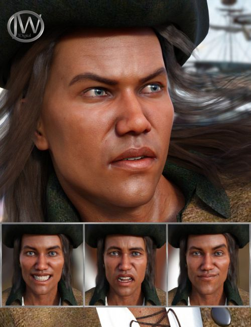 The Pirate - Expressions for Genesis 8 Male and Valentino 8