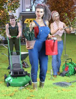 Z Gardening Essentials Props and Poses for Genesis 8