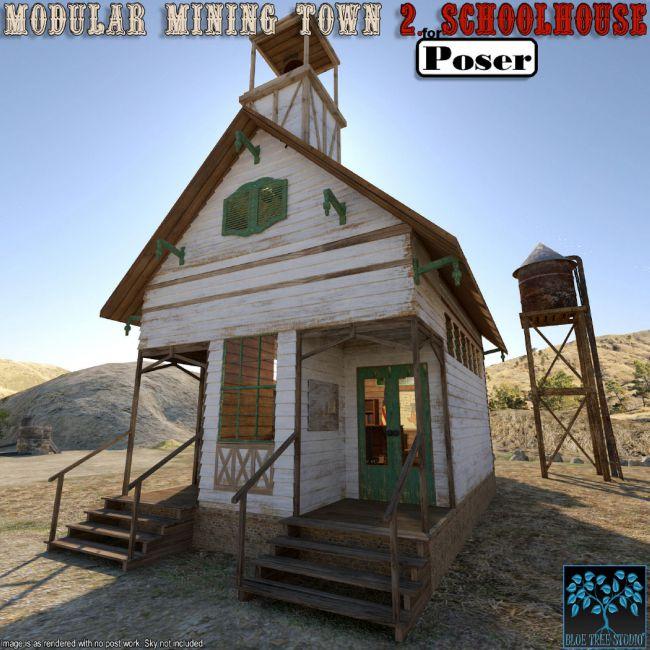 Modular Mining Town: 2. Schoolhouse for Poser
