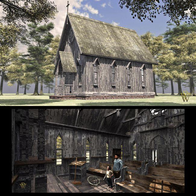 MS17F Small Abandoned Church V9.5