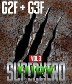 SuperHero Fury for G2F and G3F Volume 3
