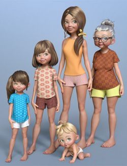 Toon Generations 4 Essentials for Genesis 8 Female(s)