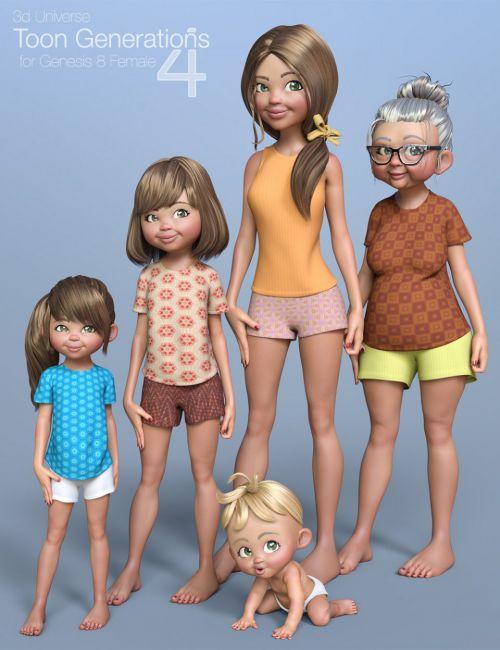 Toon Generations 4 Essentials For Genesis 8 Female S