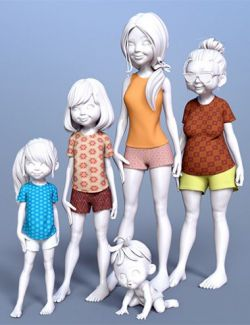 Toon Generations 4 Clothing for Genesis 8 Female(s)