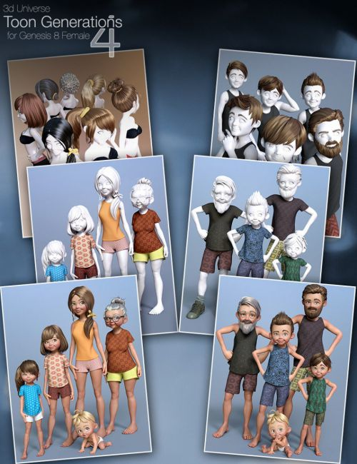 Toon Generations 4 Mega-Bundle for Genesis 8