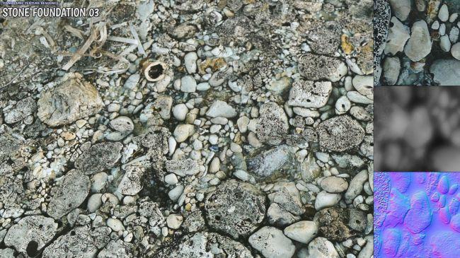 Panoramic Texture Resource: Stone Foundation 03