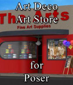 Art Deco Art Supply Store for Poser