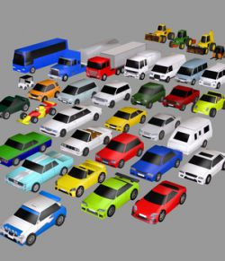 Super Low Poly Vehicles - Extended License