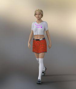 dForce School Outfit For Gen 8 Female