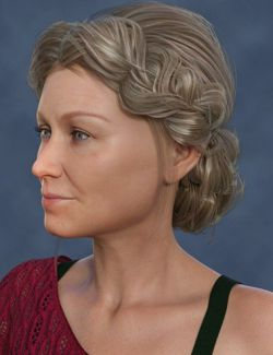 Double-Braid Updo Hairstyle for Aubrey 8 and Genesis 8 Female(s)