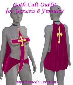 Goth Cult Outfit for G8 Female