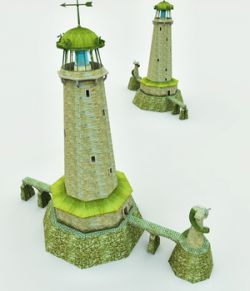Elven Village Lighthouse for Poser