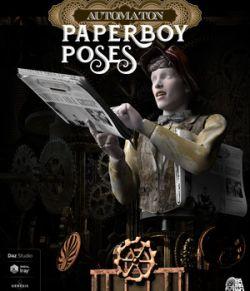 PaperBoy Automaton Poses for Daz Studio