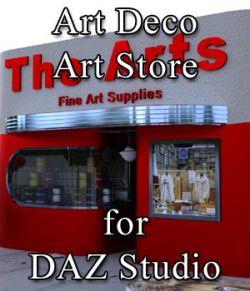 Art Deco Art Supply Store for DAZ Studio