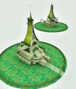 Elven Village Stables for Poser