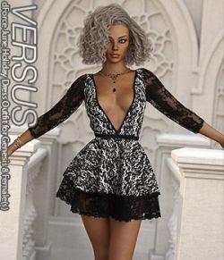 VERSUS- dForce June Holiday Dress Outfit for Genesis 8 Females