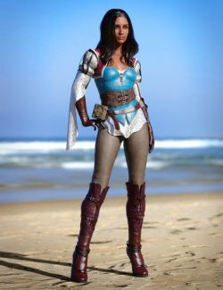 dForce Sparrows Mage Outfit for Genesis 8 Female(s)