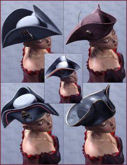 Arrr Pirate Hats Genesis 8 Male & Female
