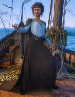 dForce Fair Tides Outfit for Genesis 8 Female(s)