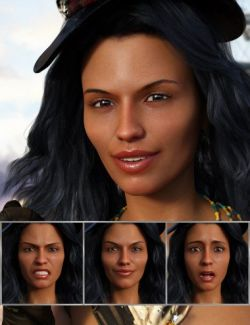 Adventuress- Expressions for Genesis 8 Female and Sahira 8