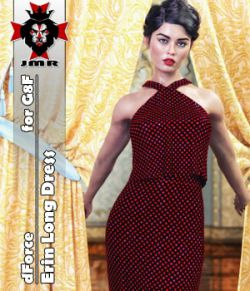 JMR dForce Erin Long Dress for G8F
