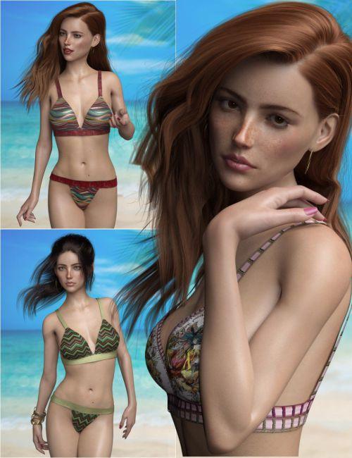 P3D Portia and Her Bikini Outfit Bundle