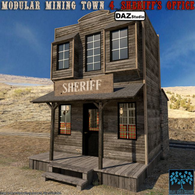 Modular Mining Town: 4. Sheriff's Office for Daz Studio