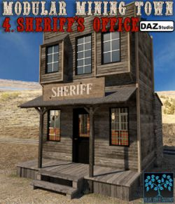 Modular Mining Town: 4. Sheriff's Office for Daz Studio