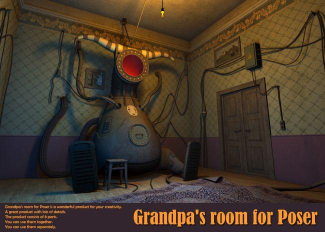 Grandpa's room for Poser