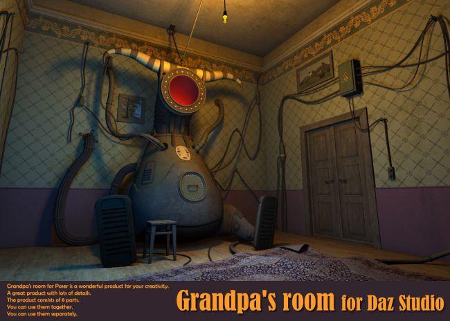 Grandpa's room for Daz Studio