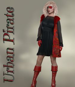 Urban Pirate dforce outfit for Genesis 8 Female