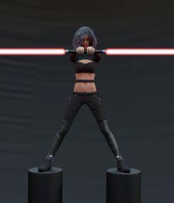 Aegis Sword: Dueling Poses II for Genesis 3 & 8 Females