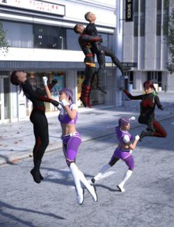 Super Comic Combat Poses for Genesis 8
