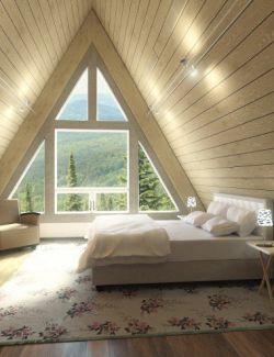 Modern Attic Bedroom