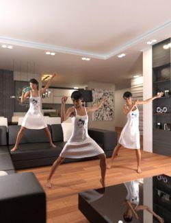 Dance Like Nobody's Watching Poses for Genesis 8 Female