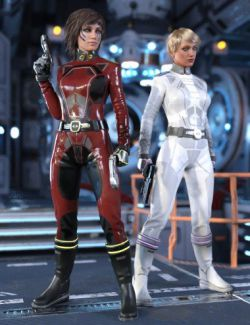 Sci-Fi Commander Outfit for Genesis 8 Female(s)