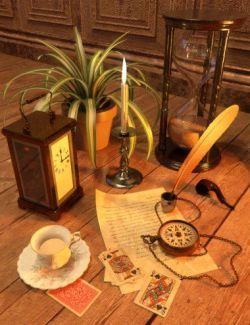 Victorian Study Clutter