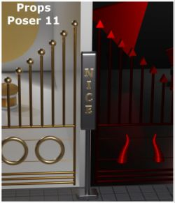 Naughty or Nice Gates for Poser