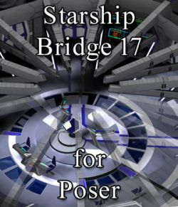 Starship Bridge 17 for Poser