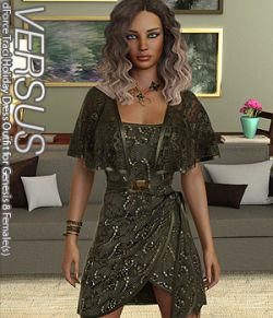 VERSUS- dForce Traci Holiday Dress Outfit for Genesis 8 Female(s)