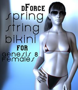 dForce Spring String Bikini for Genesis 8 Females