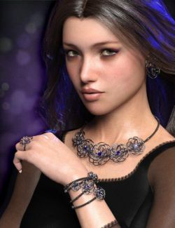 Precious Flower Jewelry for Genesis 8 Female(s)