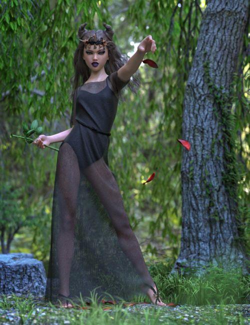 dForce Dark Fairy Gown for Genesis 8 Female(s)
