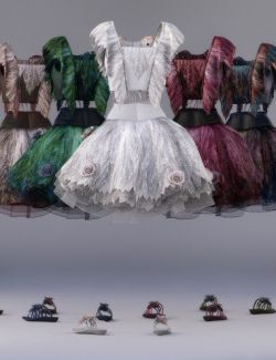 dForce Nightpetals Outfit Textures