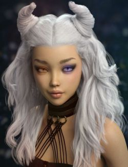 Peony Hair for Genesis 3 and 8 Female(s)